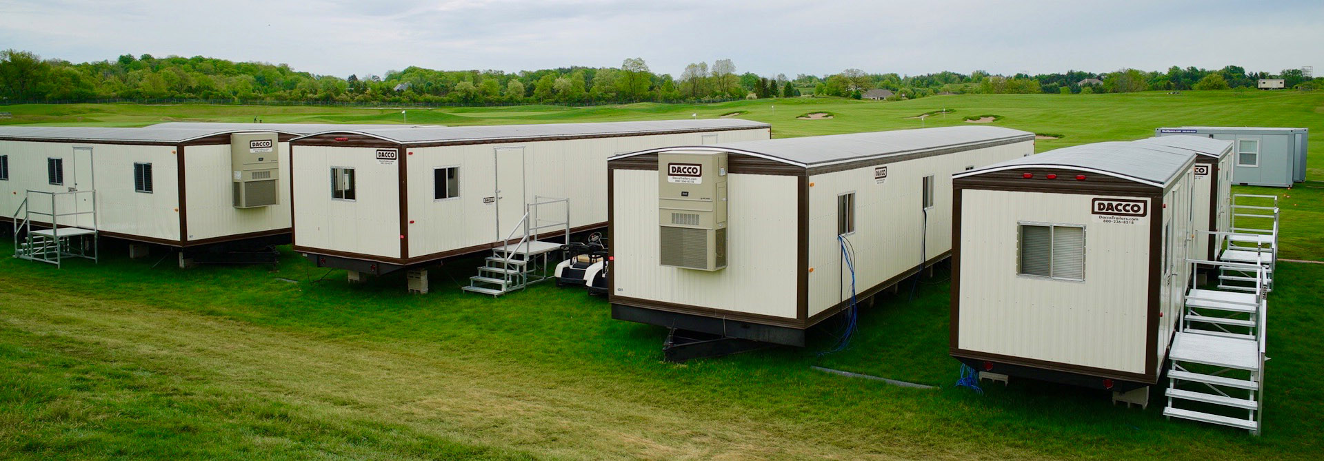 dacco office trailers at erin hills